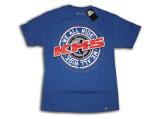 We All Ride BMX bike, cycling T-shirt, blue w/red/black/white graphics, M, XL