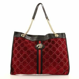 Gucci Rajah Chain Tote GG Velvet Large