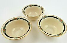 Antique Lenox China 3 Liner Insert Cream Soup Bowls Gold Trim 1906-1930 1201/M21