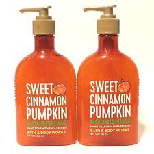 NEW 2 SWEET CINNAMON PUMPKIN BATH & BODY WORKS NOURISHING HAND SOAP WASH 8 FL OZ