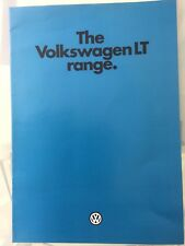 VOLKSWAGEN VW LT RANGE Vans Pick Up Sales Brochure Aug 1980 065/11910025