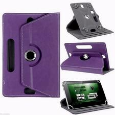 Purple Flip Leather Folio Case Stand Box Cover For Android Asus Tablet 7 8 10.1""