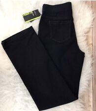 NWT Style & co Women's S Black Stretch Denim Straight Leg MSRP $49