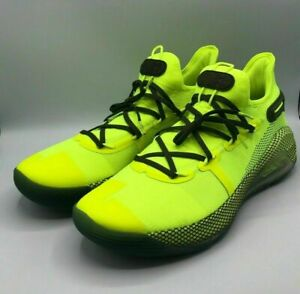 Under Armour Mens 11 Stephen Curry 6 Coy Fish Yellow Sneakers Shoes 3020612-302