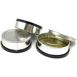 100x 3.5gram Self Seal Tin Can Black Lid Pop Top Tuna Easy Open Ring Pressitin