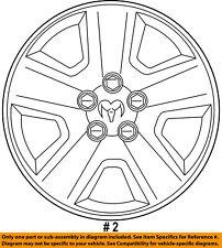 Dodge CHRYSLER OEM 07-09 Caliber Wheel Cover-Hub Center Cap 5105021AC