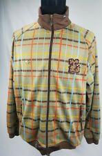 LRG Roots and Equipment Mens Zip Front Jacket Tan Multicolor Plaid Size XL