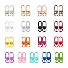 34pcs Swivel Clasp 17 Colors Alloy Lanyard Trigger Snap Hooks for Keychain