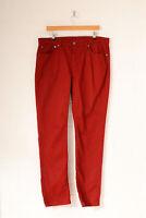 Vintage Levi's 511 Skinny Fit Jeans Wine Red (W38 L32)