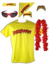 Hulk Hogan Hulkamania Yellow T-shirt Bandana Beard Boa Glasses Costume