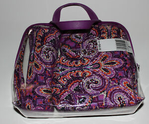 NWT VERA BRADLEY Iconic 4 Piece Cosmetic Set Dream Tapestry Pattern