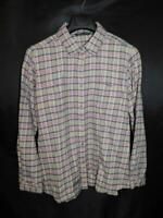 Woolrich XL Purple Green Gray Plaid Flannel Shirt Long Sleeve Button Front XL