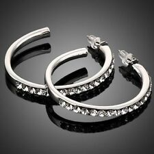 Swarovski Crystal Hoop Fashion Earrings