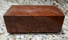 Antique Burlwood Swiss Music Box - Box Only - Very Nice for Case Replacement.