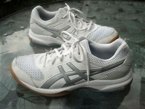 Women's Asics Gel Rocket Running Court Shoes Sneakers Volleyball White Size 10