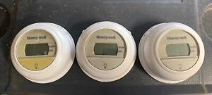 Lot Of 3 Digital Honeywell Thermostats
