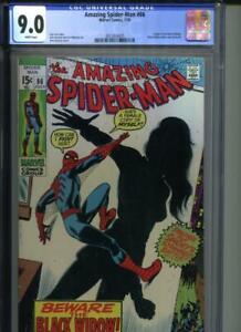 AMAZING SPIDER-MAN #86 CGC 9.0 WHITE Pgs Origin of Black Widow & New Costume