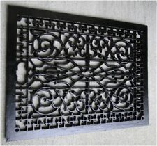 Rectangular Floor Grate Vent Replica Big Huge Solid Cast Iron Vintage Old Style