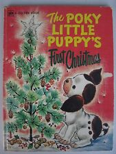 The Pokey Little Puppy's First Christmas Big Golden Book 5th Printing 1977