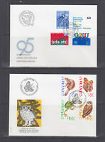 Switzerland Mi 1540/1566, 1995 issues, 8 complete sets on 8 official FDCs