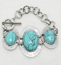 Antique Silver and Turquoise FASHION Bracelet