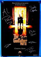 GODFATHER 3 - Movie poster 39 x 27 SIGNED Al Pacino Andy Garcia Diane Keaton + 3