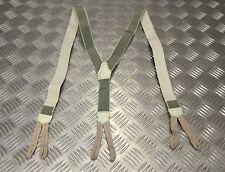 Vintage WW2 Pattern Working Dress Elasticated Suspenders / Braces w Button Loops