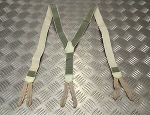 Genuine Vintage Eastern Bloc Military Elasticated Suspenders/Braces WW2 Pattern