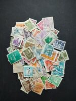 Worldwide stamp collection/accumulation , 210 all different off paper stamps