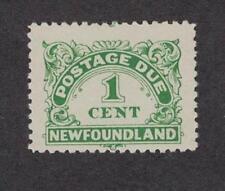Newfoundland J1 - Postage Due. 1 Cent.  MNH. OG. Single    #02 NEWJ1a