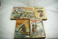 1887-1908 Paperback Novel Lot Nick Carter Dick Merriwell Georgie Sheldon 5 PCS