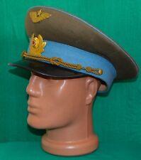Bulgarian Communist Army PILOT Air Force Service Uniform PEACKED VISOR CAP 1969'