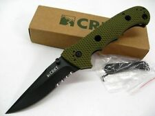 Couteau CRKT Hammond Cruiser Green Serr Acier 8CR13MoV Manche Zytel CR7914DKG
