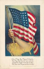 Our Flag the Flag of Liberty Patriotic Postcard