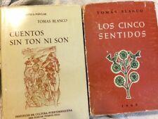 LOS CINCO SENTIDOS, 1968 & CUENTOS SIN TON NI SON, 1970/TOMAS BLANCO PUERTO RICO