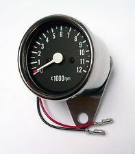 Universal Chrom Mini Drehzahlmesser DZM Tachometer 65mm Honda 750 Suzuki NEU