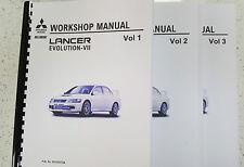 MITSUBISHI LANCER EVO VII WORKSHOP MANUAL REPRINTED 1095 PAGES COMB BOUND