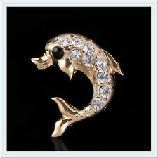 Beautiful Rhinestone Dolphin Brooch,Sparkly,Christmas Gift,Fish,Bling,Gems