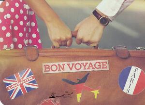 Postkarte: Auf in die Welt! Gute Reise!