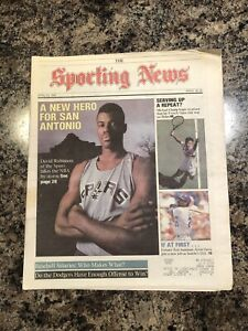 1990 David Robinson Sporting News Newspaper. Spurs Basketball