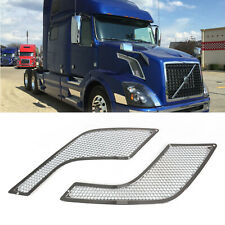Left+Right Hood Side Chrome Vent Grille Grill  for Volvo VNL 2004-2016(Fits: 2006 Volvo)