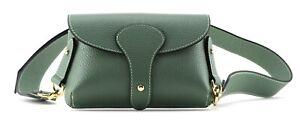 Ladies women's small GREEN designer style genuine LEATHER shoulder handbag