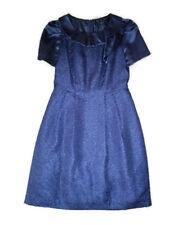 SALE Blue Formal Dress Cocktail Dresses Jacquard 10 Medium Mother of the Bride