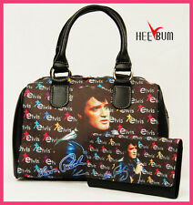 Elvis Presley Women's Girl's Handbag & Wallet Set Designer Fashion Bag Purse