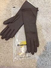Fownes Size 6 1/2 Brown Nylon Gloves Vintage Established 1777