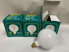 """3"" New Bulbrite Wa77 5"" Dia. Std Base 40W White Globe Light Lamp Bulb (A5)"
