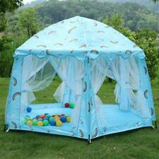 Blue Princess Castle Cute Playhouse Children Kids Gift Play Tent Outdoor Toys US