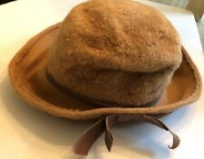 Retro Martelle Body West Germany fur felted hat brown camel Victorian ~ vintage