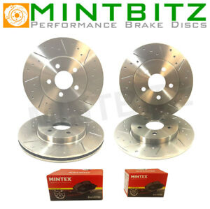 Mini R50 1.6 One 01-06 Front Rear Brake Discs & Pads Dimpled & Grooved