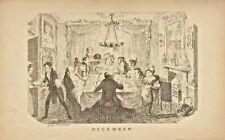 1835 original george cruikshank  print : december !